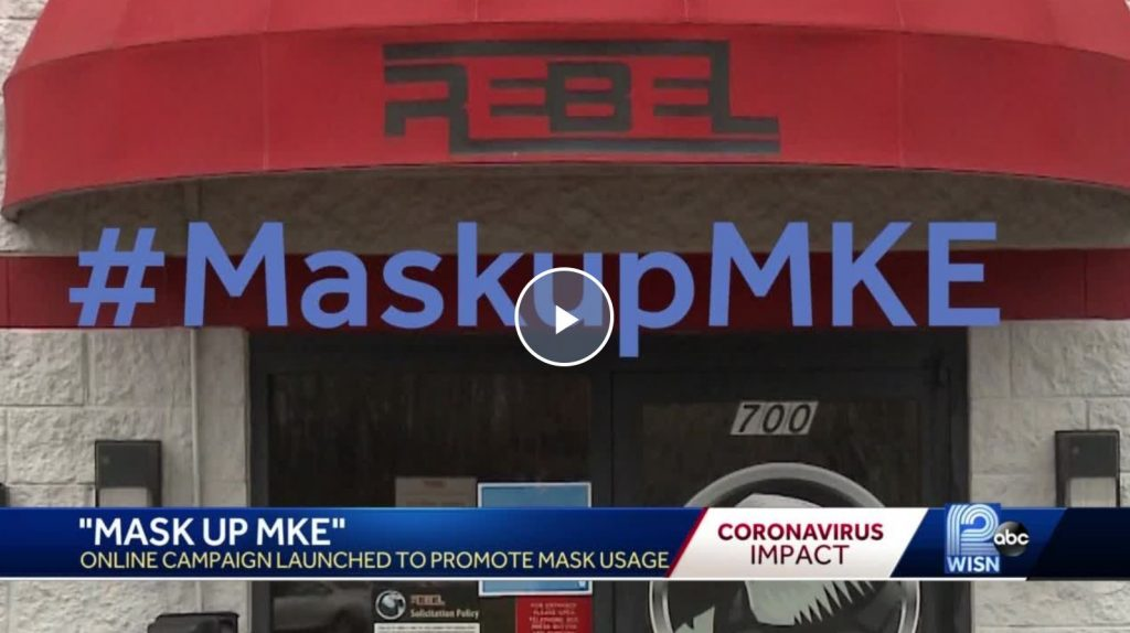 Mask up Milwaukee - Rebel Converting