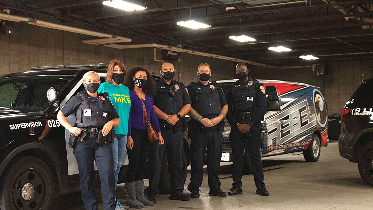 Rebel Reform Delivers Face Masks to MPD